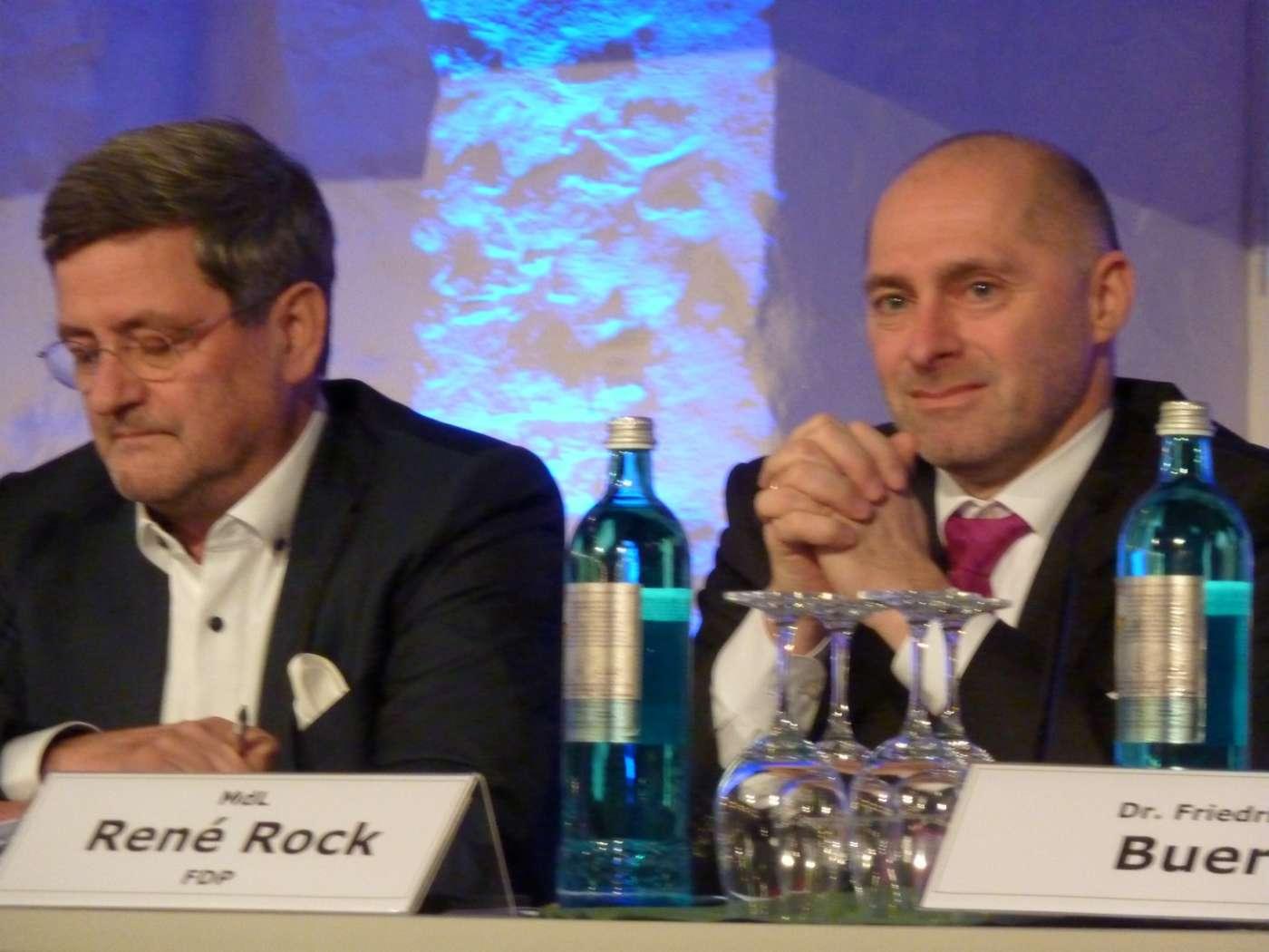 Moderator Roland Tichy und René Rock
